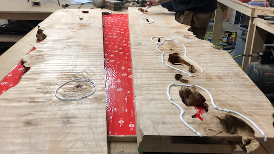 how to build a live edge river style dining table modernhomereno DIY Blog